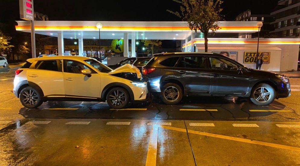 Verkehrsunfall mit vier Autos