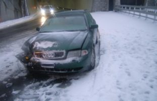 Unfall in Andermatt: Autofahrerin gerät ins Rutschen