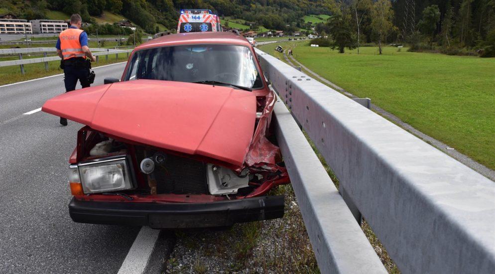 Crash auf der A28 in Schiers