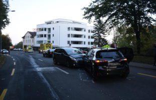 Unfall mit mehreren Fahrzeugen in Wittenbach SG