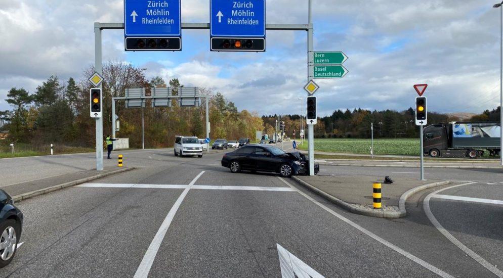 Heftige Kollision in Rheinfelden AG