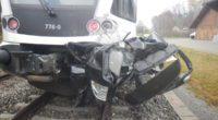 Unfall zwischen Zug und Auto auf Bahnübergang in Sulgen
