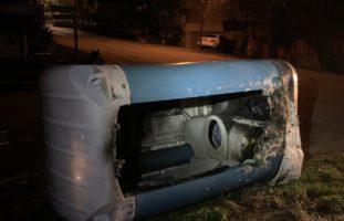 Mobile WC-Kabine in Schaffhausen SH fängt Feuer