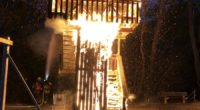 Allschwil: Holzturm in Brand