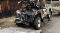 Auto gerät nach Unfall in Sissach BL in Brand