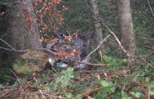 Heftiger Autounfall in Schwellbrunn
