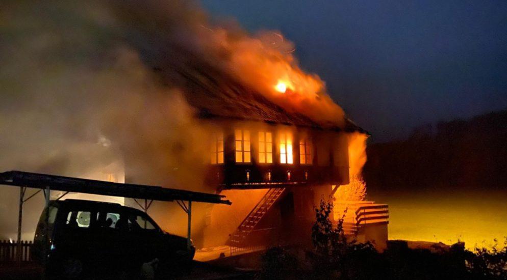 Wohnungsbrand in Flamatt
