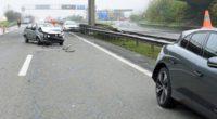 Drei Unfälle auf der A14