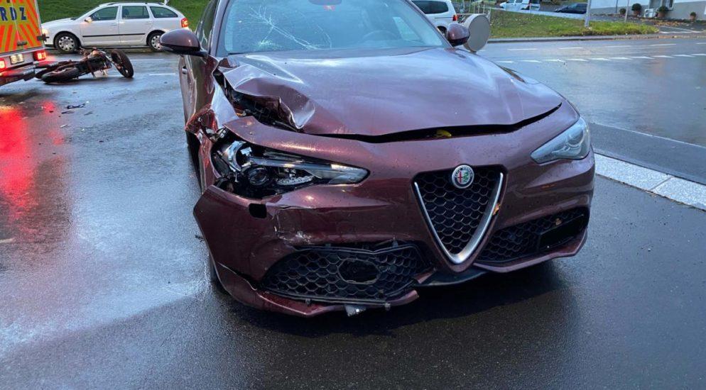 Schwerer Verkehrsunfall in Neuheim ZG
