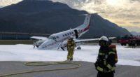 Flugzeug mit defektem Fahrwerk in Sitten gelandet
