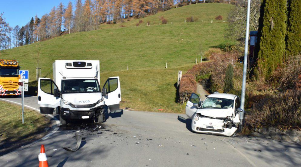Heftiger Verkehrsunfall in Eigenthal