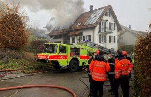 Brand in Urdorf ZH verursacht grossen Sachschaden