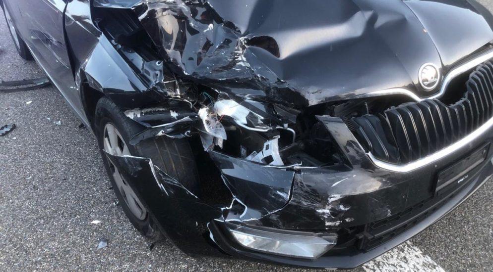 Crash auf der A3 in Mollis GL