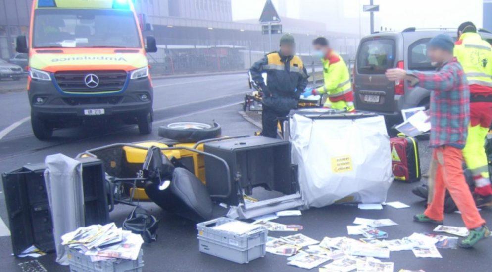 Verkehrsunfall in Schattdorf - 18-jähriger Kleinmotorradfahrer verletzt