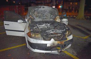 Fahrzeug brennt aus an A2 / Luzern LU