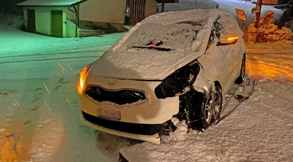 Kanton Thurgau: Schneefall führt zu 15 Verkehrsunfällen