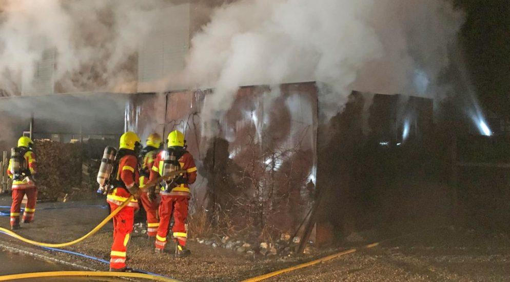 Abstellraum in Stettfurt in Brand geraten
