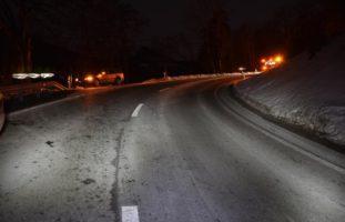 Heftige Streifkollision bei Verkehrsunfall in Ilanz