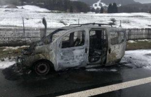 Autobrand auf der A12 Châtel-St-Denis