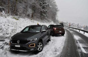 Chur GR: Verkehrsunfälle nach Schneefall