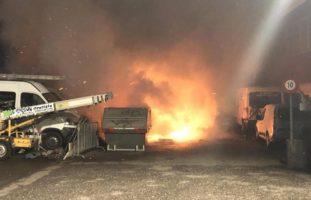 Fasnachtswagen in Pratteln bei Brand zerstört