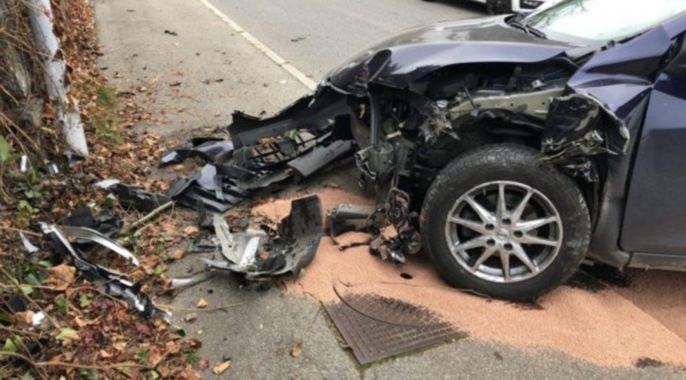 Heftiger Verkehrsunfall in Greifensee
