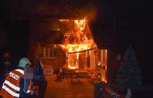 Ennetmoos NW - Brand eines Mehrfamilienhauses: Riesiger Sachschaden