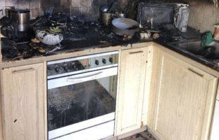 Brandfall in Therwiler Küche