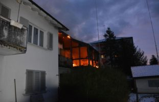Wintergarten in Brand