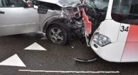 Frontalunfall zwischen Auto und Linienbus in Grenchen SO