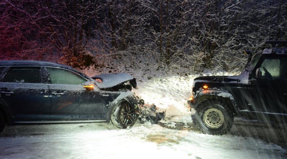 Hersberg BL - Unfall zwischen zwei Autos