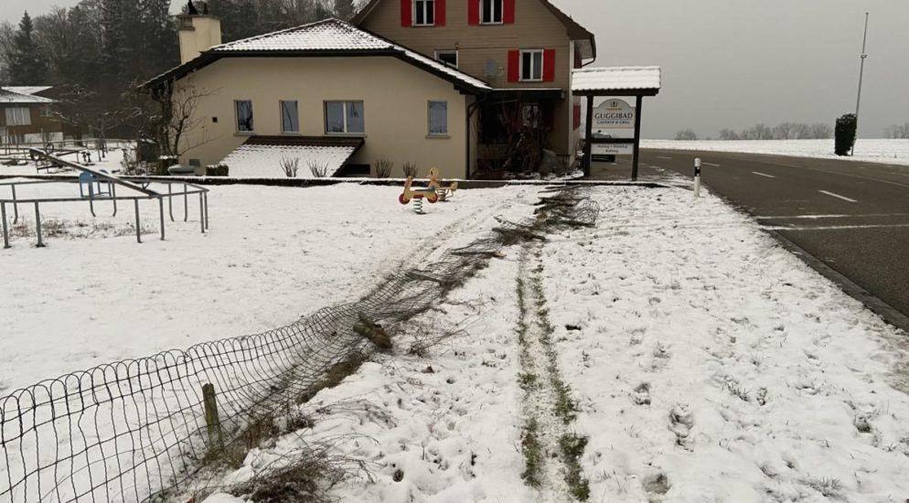 Buttwil: Zaun niedergedrückt