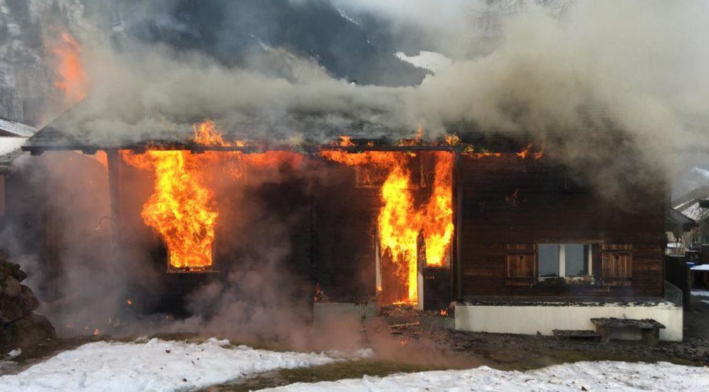 Brandfall mit Schadenfolge in Engi