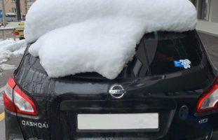 Auto nicht vom Schnee befreit - einige Lenker in Basel BS verzeigt