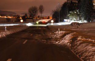Heftiger Selbstunfall in Schwarzenbach SG