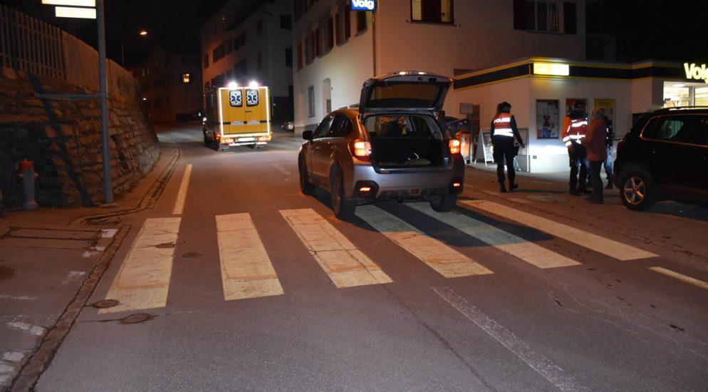 Heftiger Verkehrsunfall in Trin GR