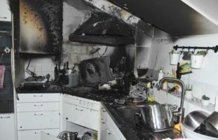Küchenbrand fordert zwei Verletzte