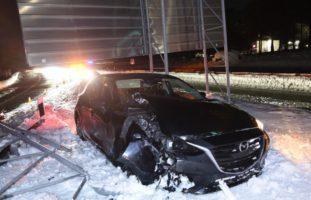 Unfall auf der A13 bei Domat/Ems