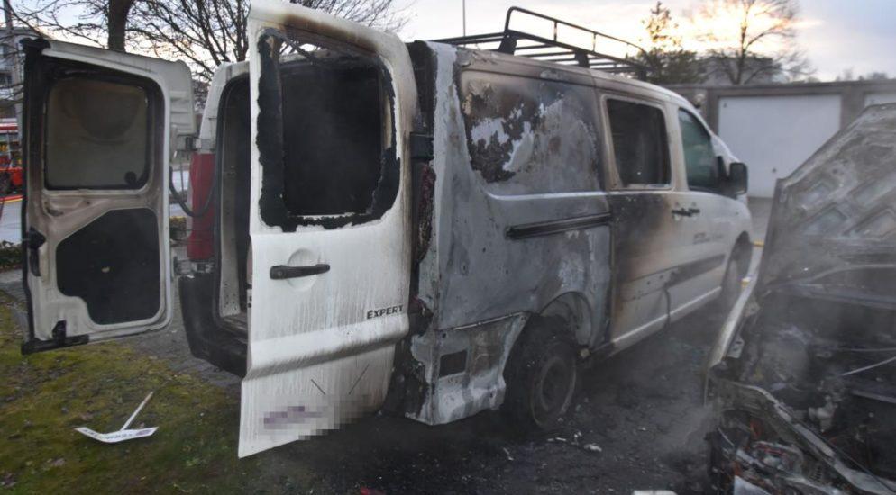 Luterbach SO - Feuer beschädigt drei Autos