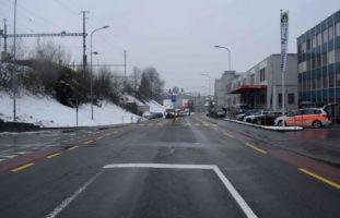 Verkehrsunfall zwischen Auto und E-Bike in Herisau