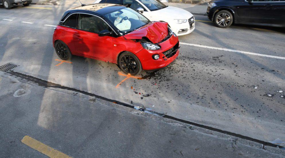 Auffahrunfall zwischen Auto und Lieferwagen in Chur