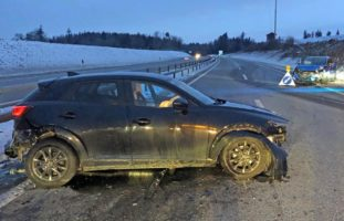 Sirnach: Nach Unfall auf der Autobahn ins Spital gebracht