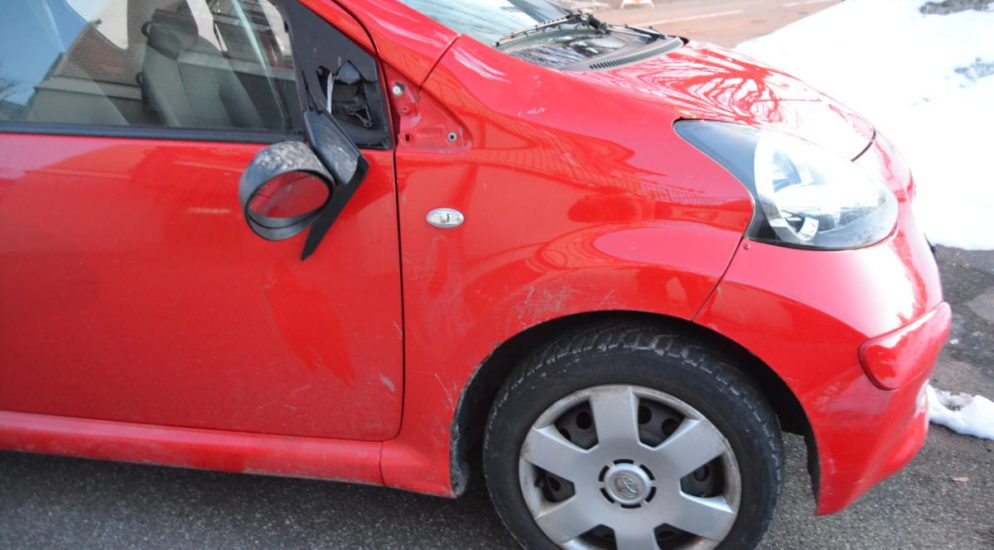 Crash in Speicher - Kollision zwischen Auto und Rennvelofahrer
