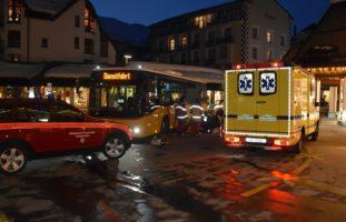 Lenzerheide GR - Kollision zwischen Postauto und Fussgängerin