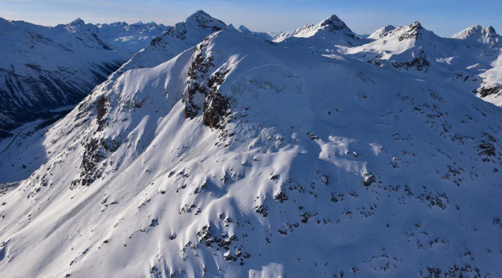 Piz Alv, Pontresina GR - Skitourengänger durch Lawine verschüttet