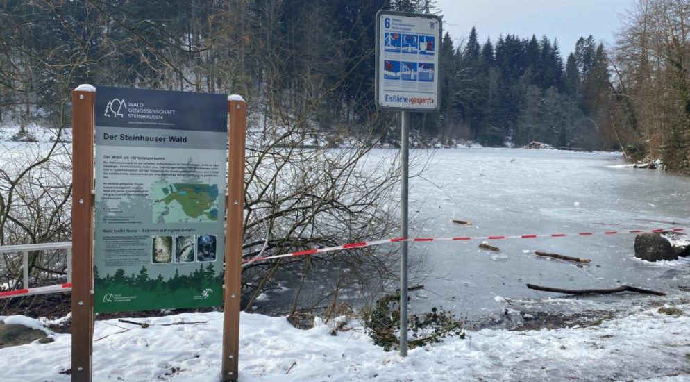Kanton Zug: Achtung vor Eiseinbruch