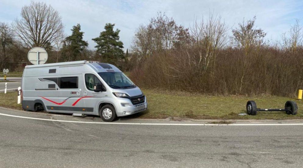 Stadt Schaffhausen: Camper verliert Hinterachse