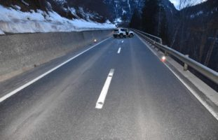 Unfall in Filisur: Autolenker baut Selbstunfall