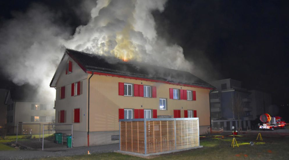 Mehrfamilienhausbrand in Stans NW