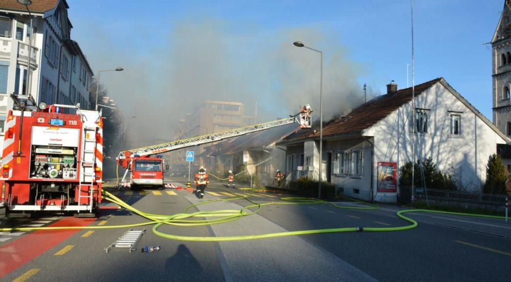 Einfamilienhaus in Olten SO brennt ein zweites Mal